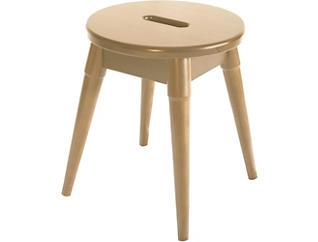 Griffin Blonde Round Stool, , large