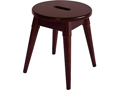 Griffin Merlot Round Stool, , large