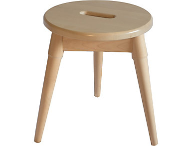 Griffin Blonde Tripod Stool, , large