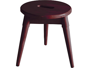 Griffin Merlot Tripod Stool, , large