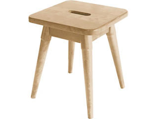 Griffin Blonde Square Stool, , large