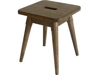 Griffin Chestnut Square Stool, , large