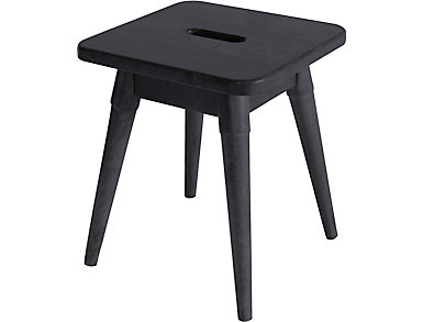 Griffin Graphite Square Stool, , large