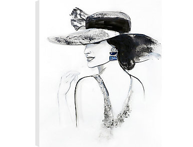 Fashionista Canvas Wall Art, , large