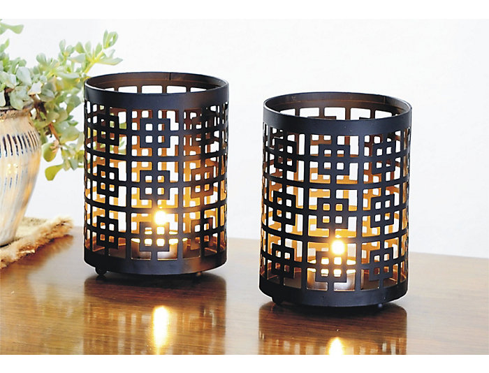 Grid Candle Holder (Set of 2), , large