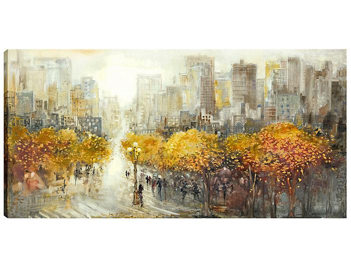 autumn in nyc canvas art art van home