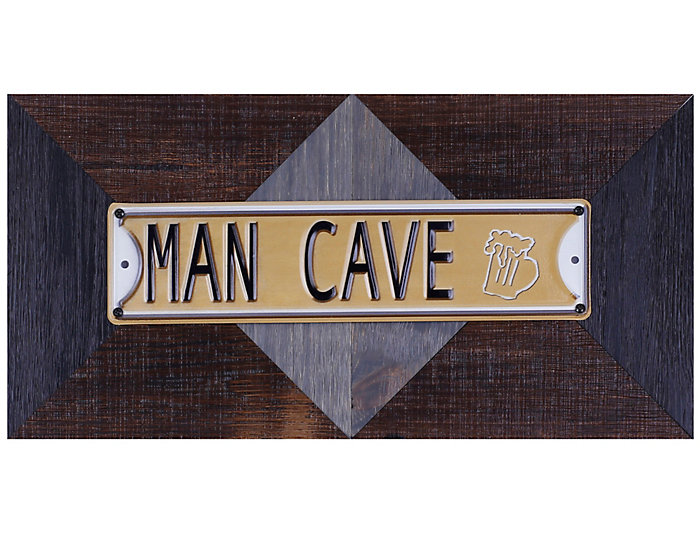 Man Cave Metal Wall Art, , large