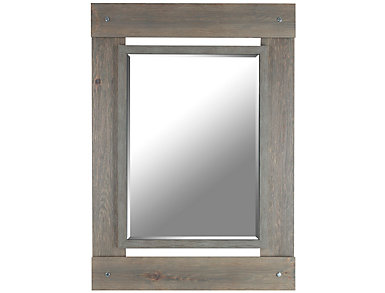 Barrie Grey Wall Mirror, , large