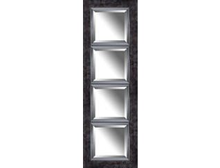 Edward Black Wall Mirror, , large
