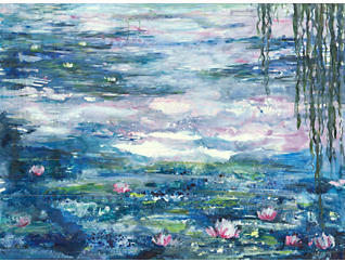 Lily Pond Canvas Art, , large