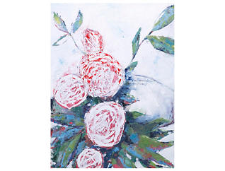 Abstract Peonies Canvas Art, , large