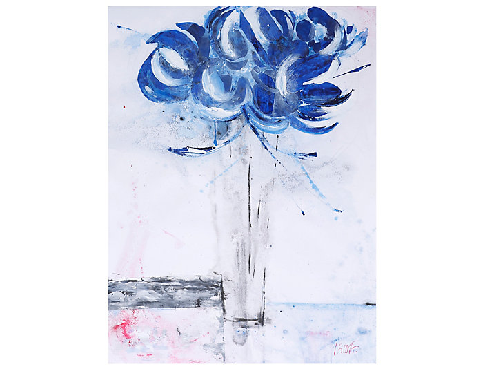 Blue Bouquet II Canvas Art, , large