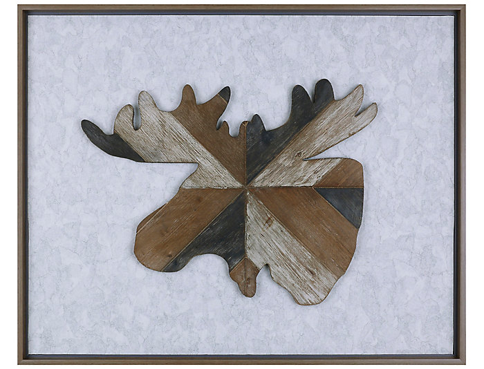 Moose Wooden Wall Art, , large