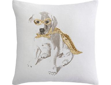 Dog Cape Metallic 18x18 Pillow, , large