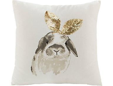 Bunny Ears Metallic 18x18 Plw, , large