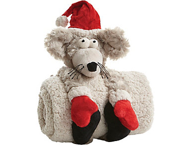 Christmas Mouse w/Soft Blanket, , large