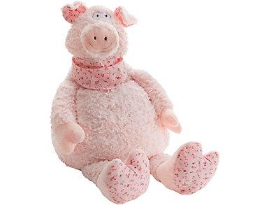 Oversized Pig Plush Animal, , large