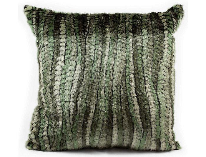 Pownal Faux Fur 18x18 Pillow, , large