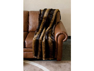 Roxbury Faux Fur Throw Blanket, , large