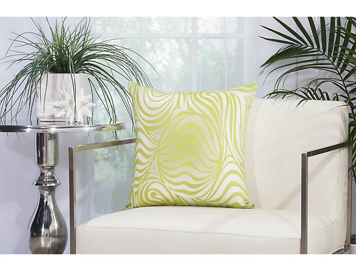 Green Zebra Outdoor Pillow, , large
