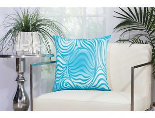 Blue Zebra Outdoor Pillow, , large
