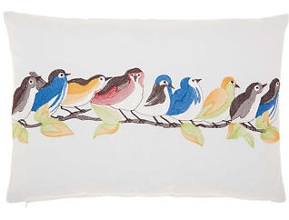 Birds On Wire Outdoor Pillow, , large