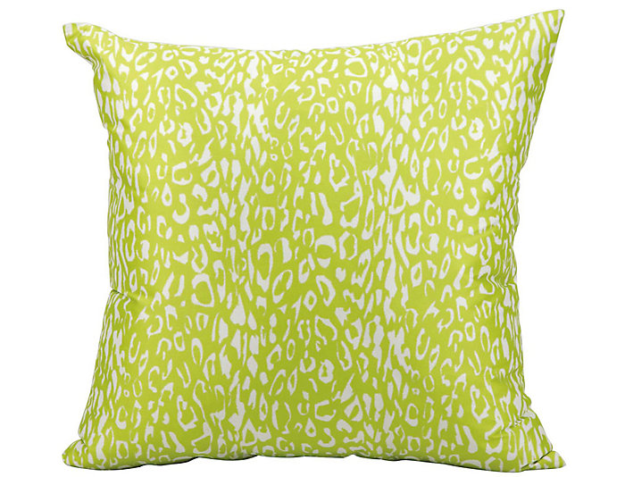 Green Leopard Outdoor Pillow, , large