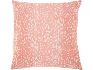 Orange Leopard Outdoor Pillow, , large