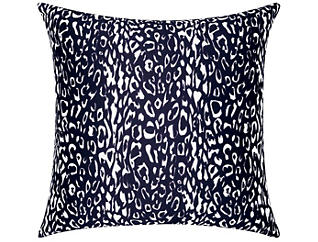Navy Leopard Outdoor Pillow, , large