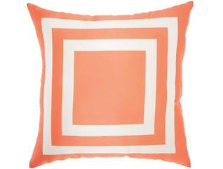 Orange Square Outdoor Pillow, , large