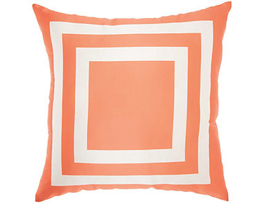Orange Square Outdoor Pillow, , large