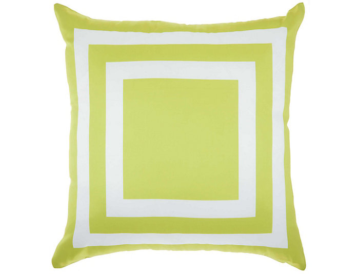 Lime Square Outdoor Pillow, , large