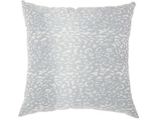 Grey Leopard Outdoor Pillow, , large