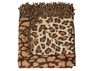 Leopard Throw Blanket, , large
