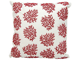 Beaded Coral Outdoor Pillow, , large
