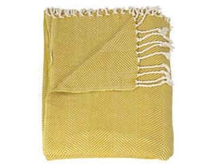 Oakland Mustard Throw Blanket, , large