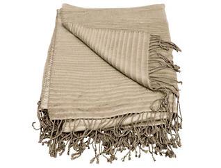 Midland Beige Throw Blanket, , large