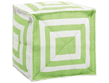 Lime Square Pouf Ottoman, , large