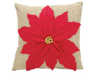 shop Red Poinsettia 17x17 Pillow