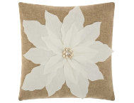 shop White Poinsettia 17x17 Pillow