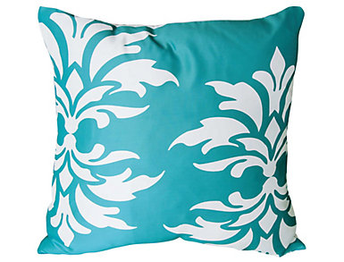 Strood Teal Outdoor Pillow, , large