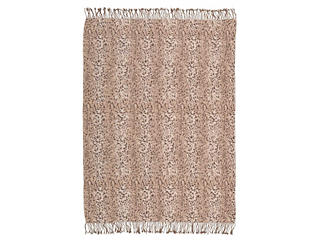 Spotted Beige Throw Blanket, , large