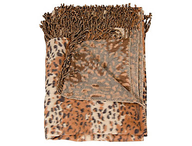 Spotted Rust Throw Blanket, , large