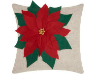 shop Poinsettia 18x18 Pillow