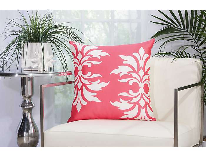 Strood Pink Outdoor Pillow, , large