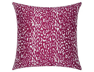 Lilac Leopard Outdoor Pillow, , large