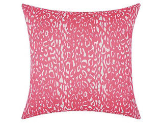 Pink Leopard Outdoor Pillow, , large