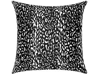 Black Leopard Outdoor Pillow, , large