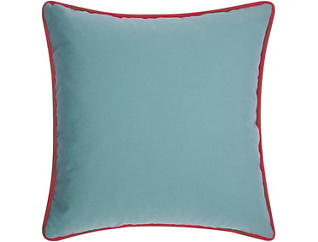 Warren Aqua Outdoor Pillow, , large