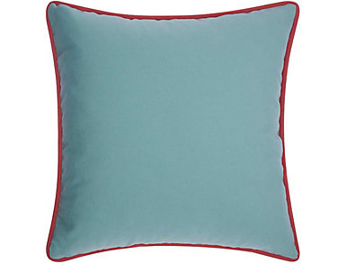 Warren Aqua Outdoor Pillow, , large